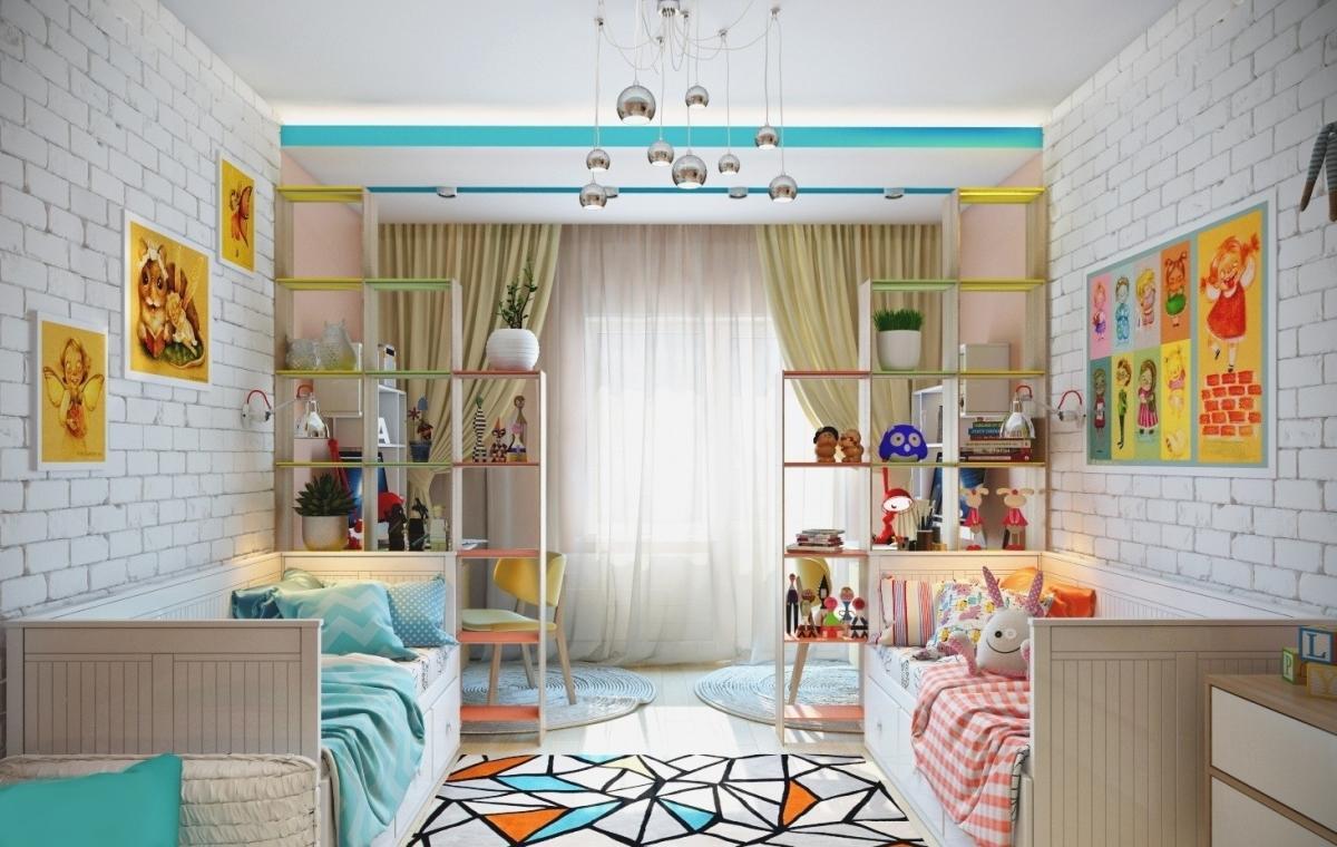 Детская комната для мальчика и девочки: дизайн фото, вместе, двухъярусная кровать, оформление зонирования, идеи мебели для подростков, интерьер