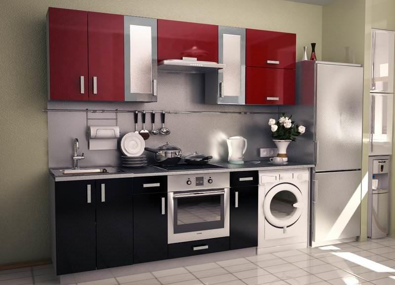 Модульная кухня позволяет компактно разместить все необходимое