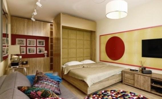 Если у вас малогабаритная квартира, тогда гостиную и спальню можно совместить в одной комнате