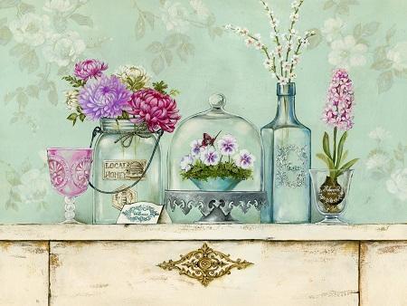 Картинки для декупажа в стиле винтаж хорошо подойдут для оформления предметов, выполненных из различных материалов: стекла, пластика, дерева