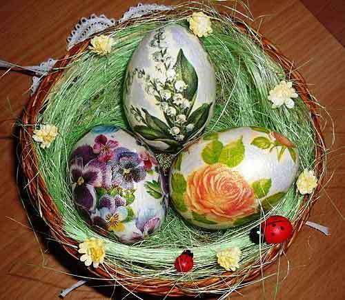 Декупаж яиц - занятие довольно интересное