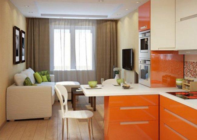 Грамотно спланированный дизайн кухни-гостиной позволит сделать помещение функциональным