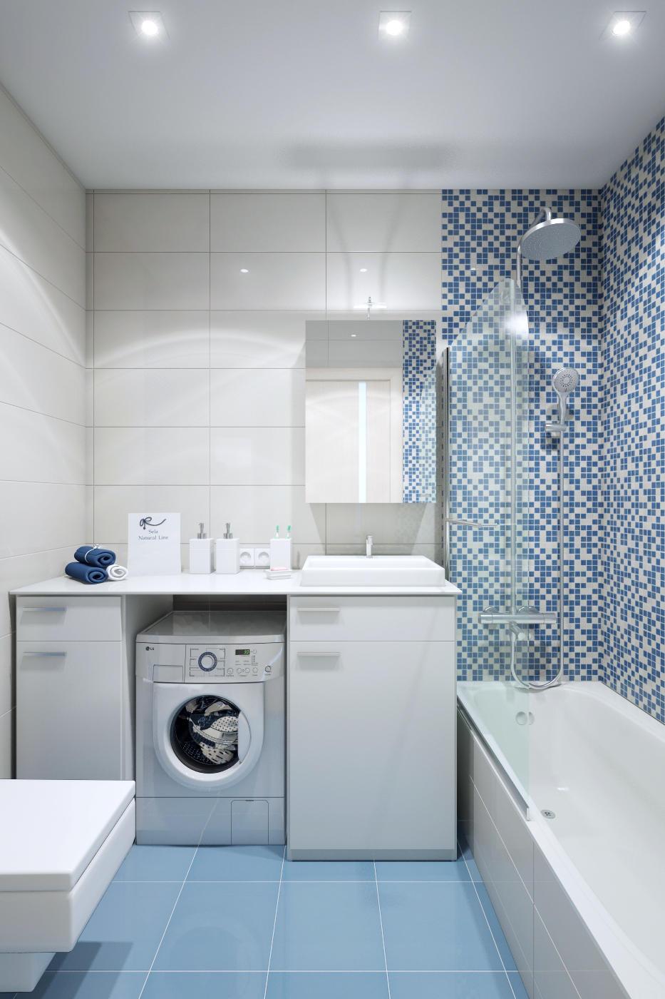 Дизайн ванной комнаты должен быть уютным и функциональным
