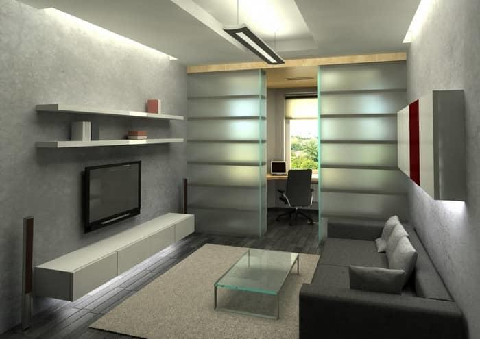 При правильном подходе можно практично и красиво разделить одну комнату на спальню и гостиную