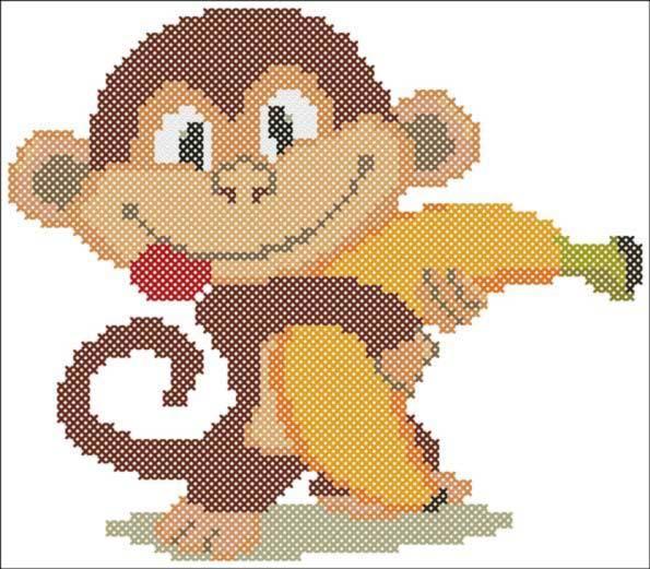 Вышитая обезьянка крестиком – это прекрасный подарок, который обязательно понравится как детям, так и взрослым