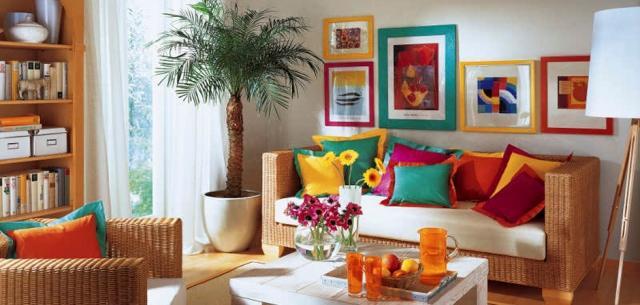 Простые уютные гостиные