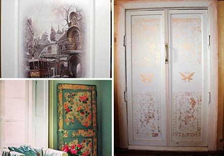 Улучшить внешний вид старых дверей и сделать их оригинальными можно без особых усилий, применив технику декупаж