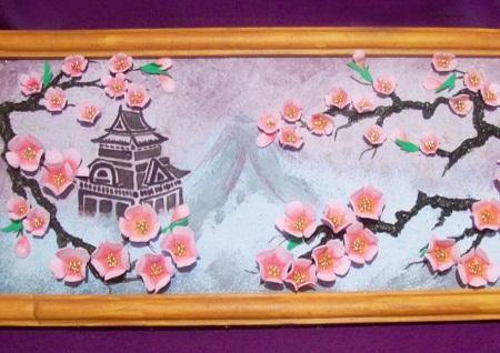 Картины из фоамирана отлично смотрятся в любом интерьере, делая его более оригинальным