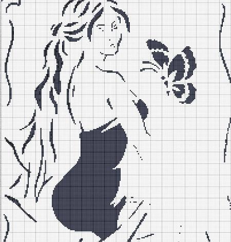 Черно-белые схемы отлично подходят для новичков, поскольку при вышивании отсутствуют трудности с сочетанием ниток разных цветов