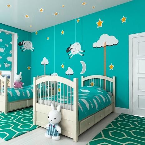 Спальная комната в детском саду обязательно должна быть не только комфортной, но невероятно красивой и сказочной