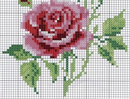 Схема для вышивания розы достаточно сложная, поэтому больше подходит для профессионалов, чем для новичков