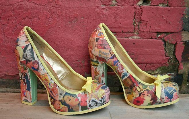 Сделав декупаж своими руками, вы обновите старую обувь, превратив ее в новую