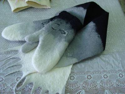 Валяные варежки из шерсти – это тепло, практично и красиво