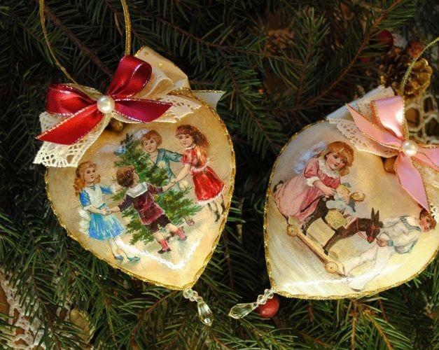 Создать праздничную атмосферу вам помогут декупажные изделия с яркими новогодними картинками