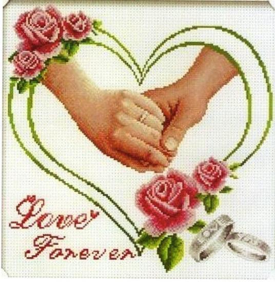 Вышитые крестом свадебные метрики, выполненные своими руками, всегда хорошо принимаются людьми, вступающими в брак