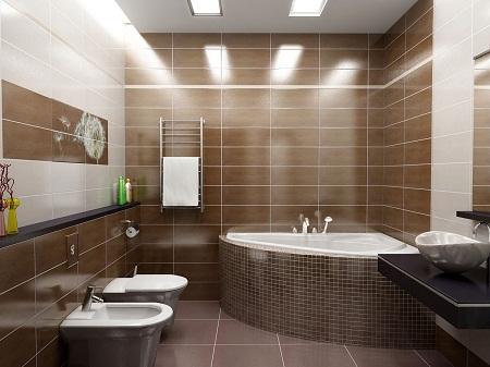 С помощью отделочных материалов можно существенно улучшить эстетические свойства ванной комнаты