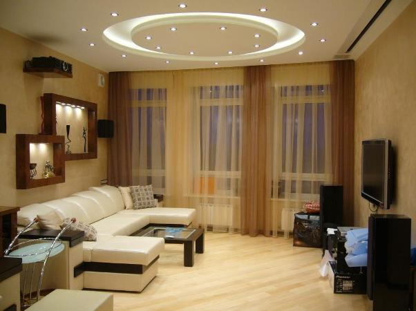 Даже с маленькой комнаты можно сделать красивую и оригинальную гостиную