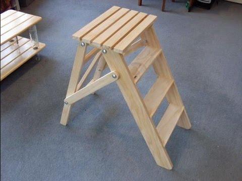 Сделать красивую и практичную лестницу-стремянку несложно, главное — ознакомиться со всеми нюансами ее изготовления