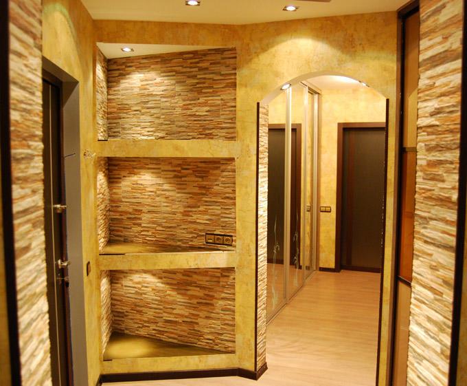 Обшивка прихожей: отделка коридора панелями МДФ, фото в квартире, стеновые обои и настенный пластик, дизайн