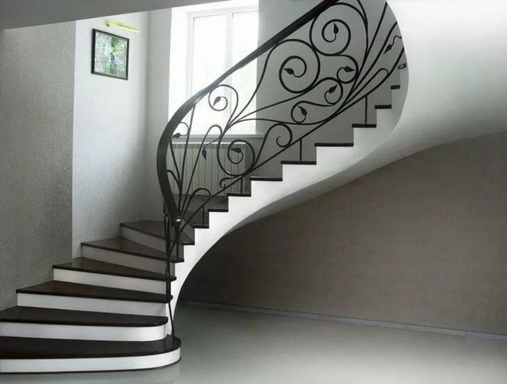 Бетонные винтовые лестницы: образная из бетона, фото и чертежи полукруглых, своими руками круглые