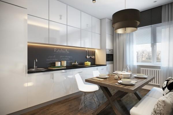 Фото кухни-гостиной 24 кв