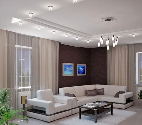 Фигурный потолок в любой комнате - это необычно, красиво и очень оригинально