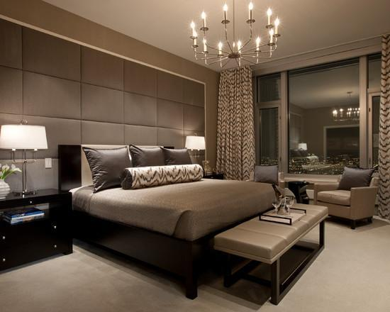 Оформление спальни в коричневом цвете является универсальным, поэтому оно подойдет практически для любой комнаты