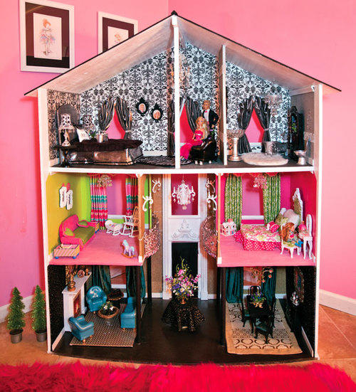 Сделать оригинальный домик для барби вполне можно своими руками в домашних условиях