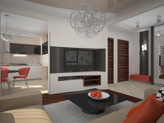 Даже небольшая гостиная может быть уютной, комфортной и современной