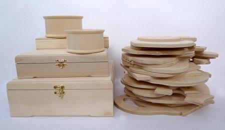 Деревянные заготовки отлично подходят для <strong>заготовки</strong> применения техники декупаж вне зависимости от их формы и размеров