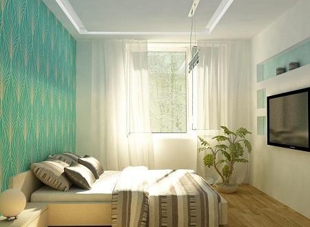 Спальня в хрущевке может выглядеть стильно и оригинально, если правильно подобрать освещение и оттенки для оформления интерьера