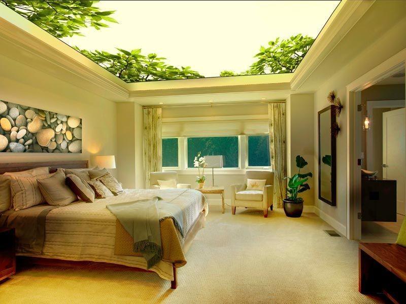 Потолок с фотообоями – это отличный вариант сделать комнату уникальной и необычной