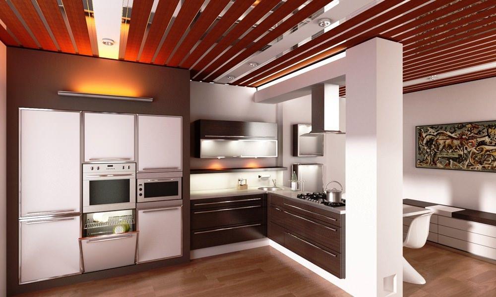 При обустройстве потолков необходимо учитывать тип отделки в данном помещении