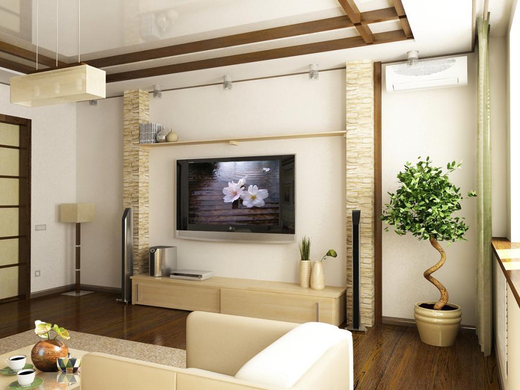 Светлые стены и натуральные материалы помогут вам сделать гостиную необычной и оригинальной