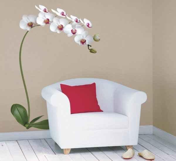 Цветочная тема всегда была актуальна в отделке стен: особого внимания заслуживают орхидеи