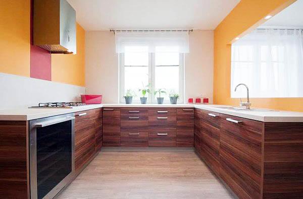 П-образная планировка на кухне будет удобна, если ваша кухня узкая