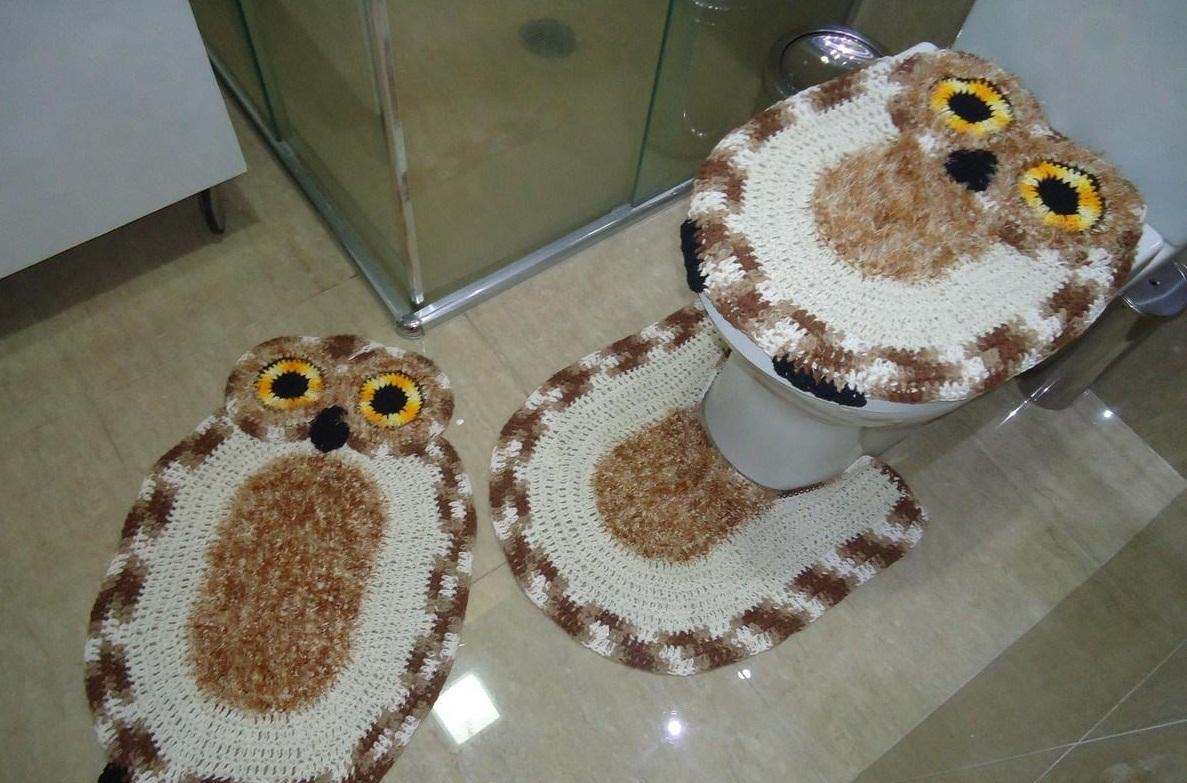 Коврик-сова способен улучшить эстетические свойства туалета