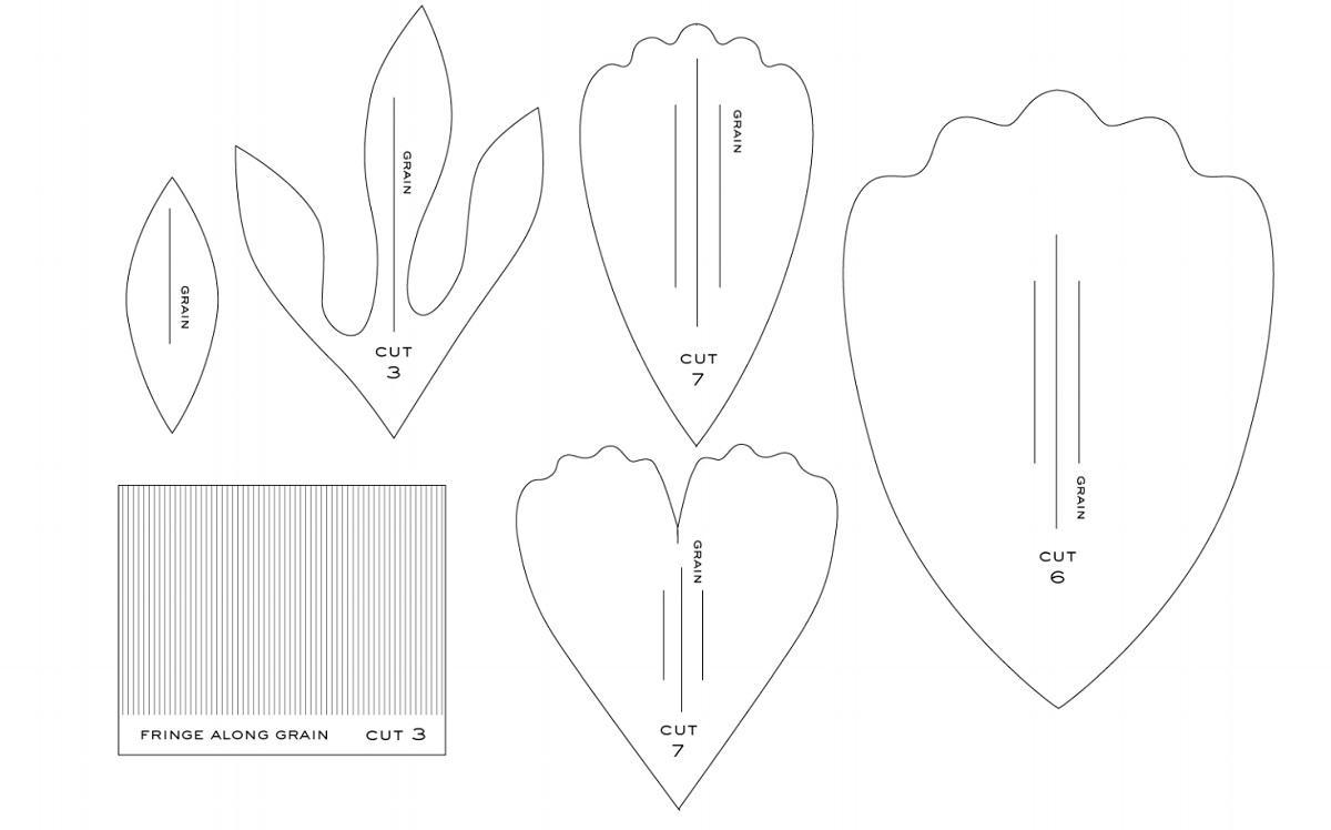 Чертеж для изготовления крокуса из фоамирана можно найти в интернете и распечатать на принтере