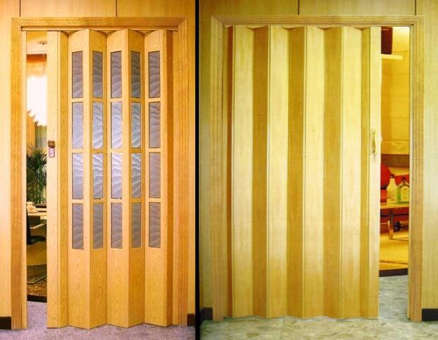 Дверь-ширма очень экономит пространство в помещении