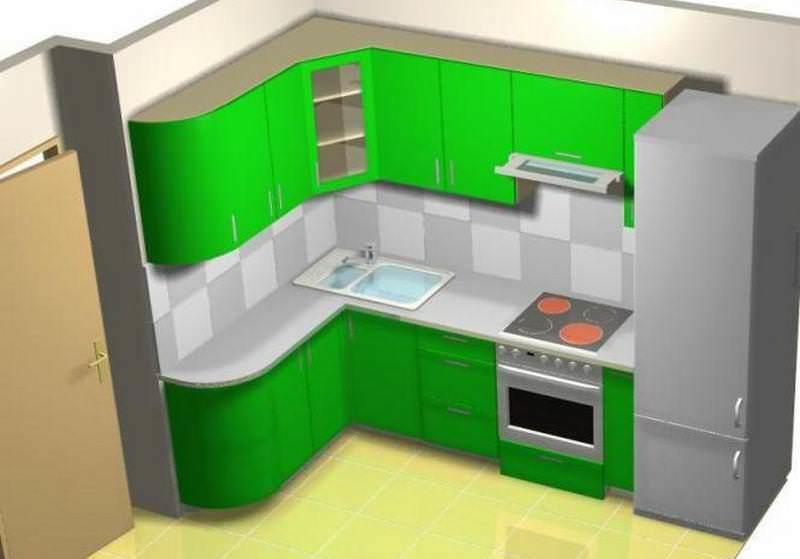 Воспользовавшись компьютерной программой, можно составить 3D макет кухни