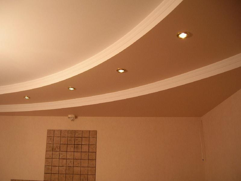 С помощью гипсокартона можно легко создать многоуровневый потолок с интересным дизайном