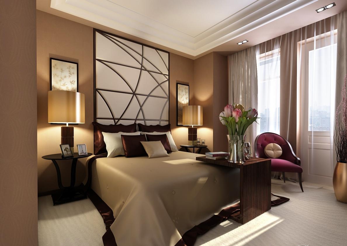 Подбирать обои для спальни нужно так, чтобы они красиво дополняли интерьер комнаты