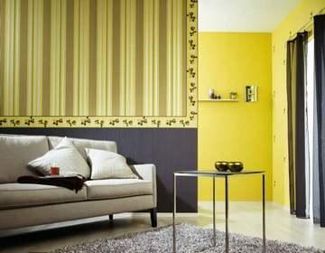 Сочетания обоев с разным рисунком один из дизайнерских приемов для зонирования пространства квартиры