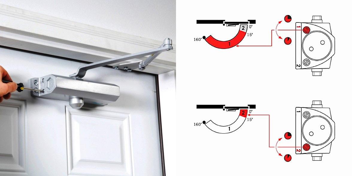 Как правильно установить доводчик на дверь видео