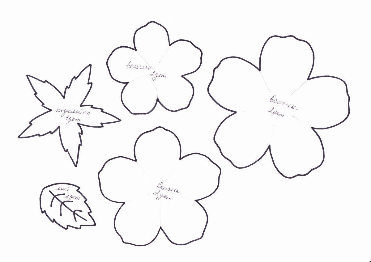 Если вы не имеете принтера, то шаблоны для изготовления роз из фоамирана можно нарисовать