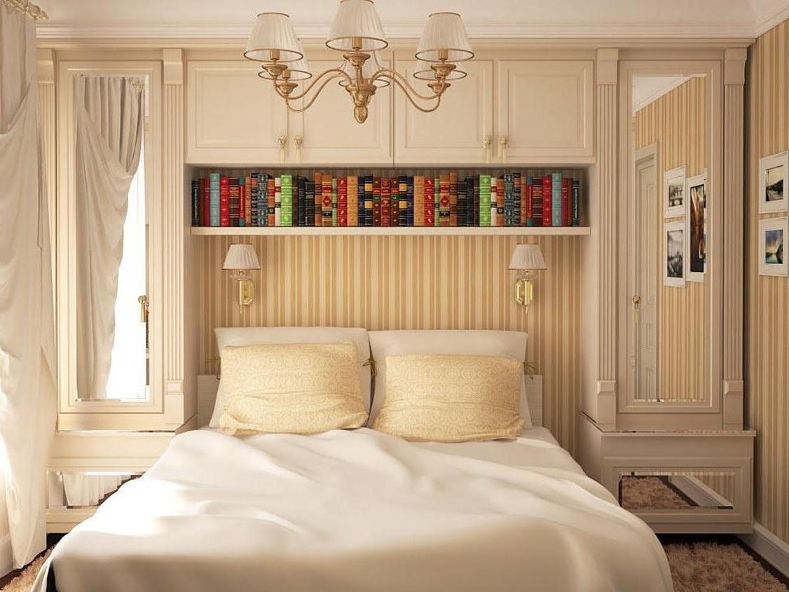 Отличным вариантом для небольшой спальни является компактный модульный шкаф