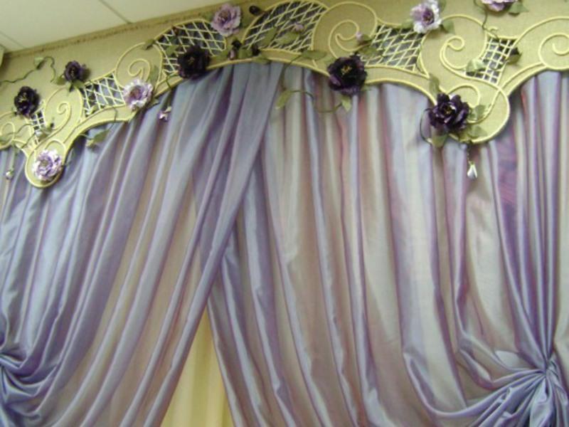 Ламбрекены в зал фото: красивые в гостиную, новинки дизайна, жесткие и простые выкройки своими руками