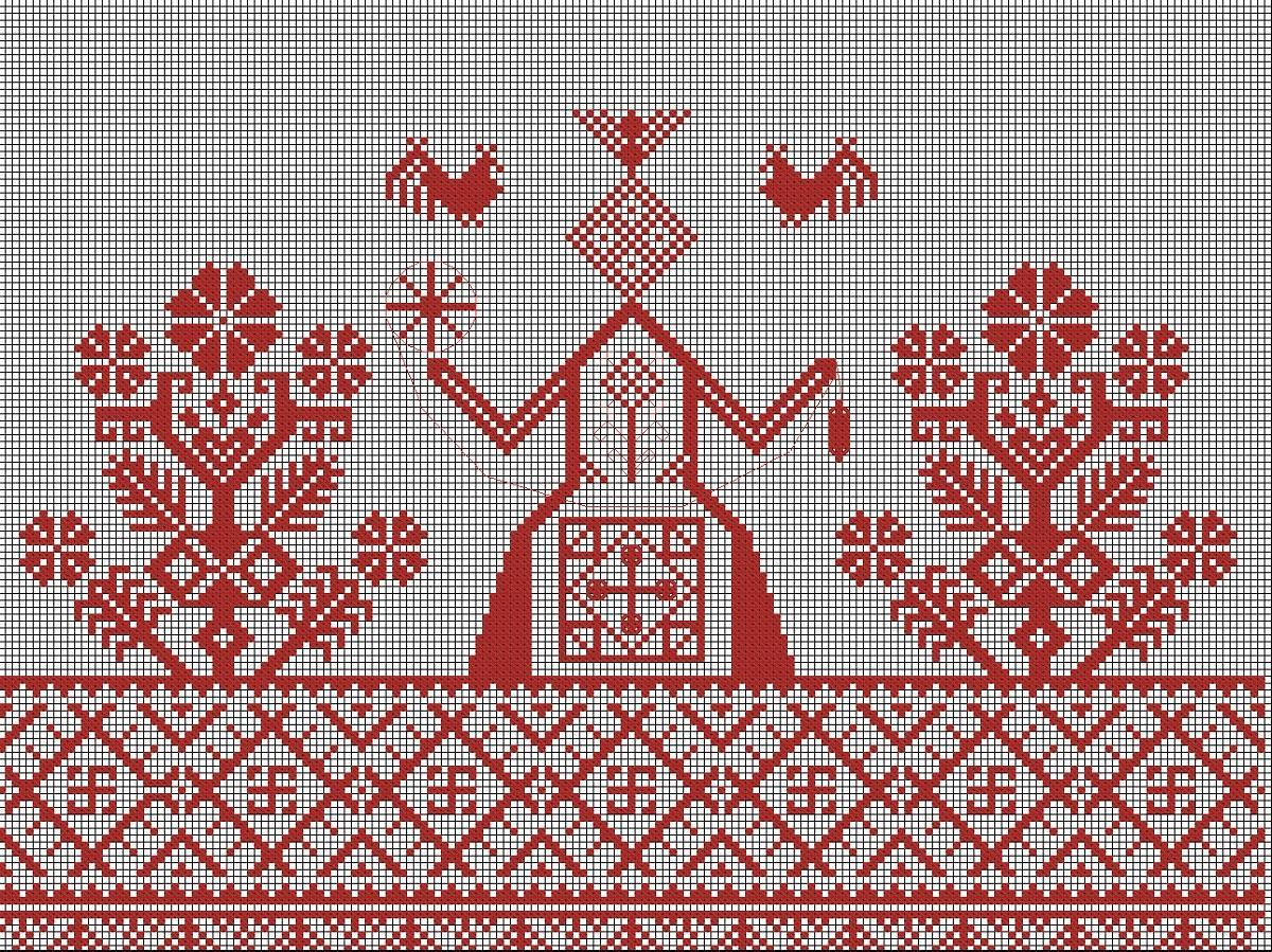 Чаще всего при вышивании Макошь используется нить красного цвета