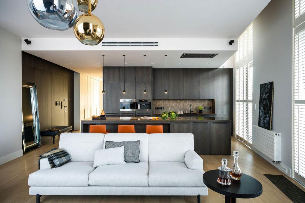 Расположив мебель на кухне правильно, можно будет больше времени можно проводить с семьей, не отрываясь от готовки