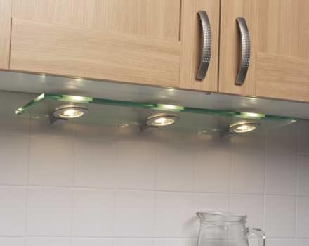 В качестве подсветки рабочей зоны можно использовать модули с точечной подсветкой